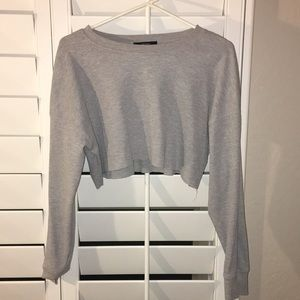 WOMENS LONG SLEEVE CROP FOREVER 21